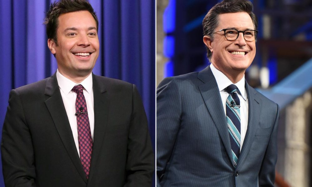 Watch Jimmy Fallon, Stephen Colbert deliver eerie late-night monologues to empty audiences – EW.com