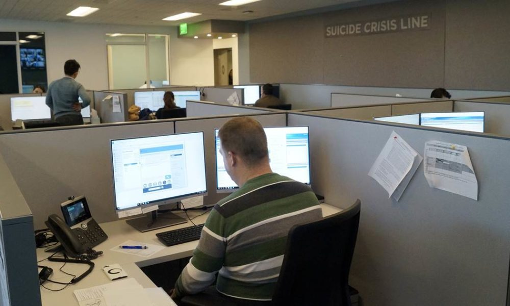 Faced with their own coronavirus fears, crisis hotline counselors answer surge in calls