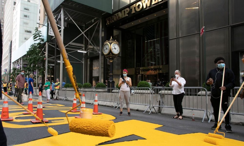 'Black Lives Matter' Painted on Fifth Avenue Outside Trump Tower